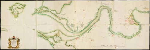 Map of the Charente River from port of Rochefort to its Mouth, 1775, by Digard de Kergüette