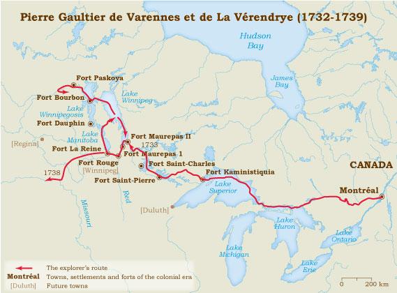 Pierre Gaultier De Varennes Et De La Vrendrye 17321739  Virtual Museum Of