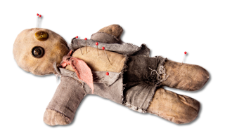 Doll with pins