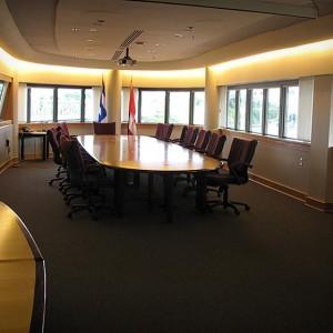 La salle du comité exécutif