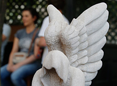 Stone carving: Angel
