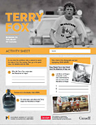 Terry Fox activity sheet