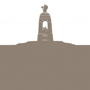 Silhouette of the National War Memorial