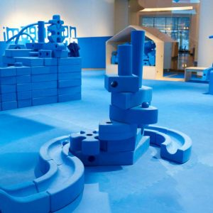 Big blue foam blocks
