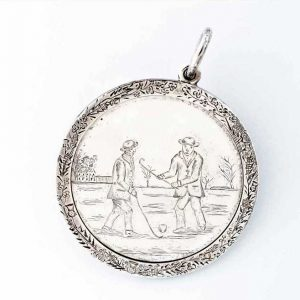 Silver shinty medal