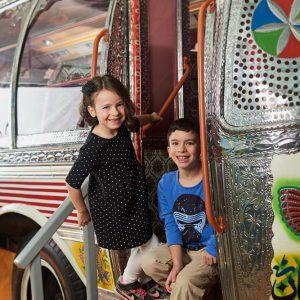 Climb aboard a Pakistani bus