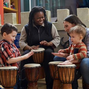 Learning to play the talking drums