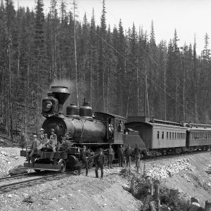 100-ton mountain engine on the Canadian Pacific Railway