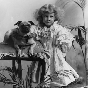 Missie Phyllis Joseph and dog
