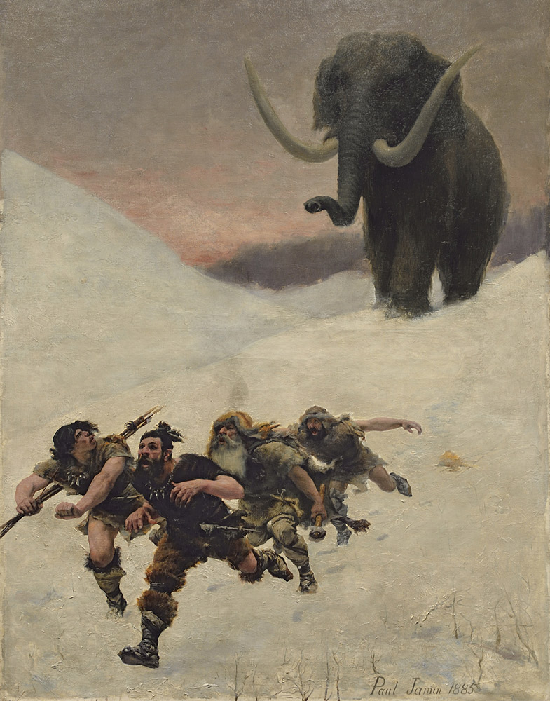 Fleeing a Mammoth