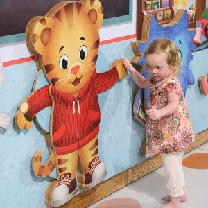 Child with Daniel Tiger