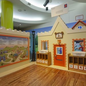 Home in the Daniel Tiger exhibition space