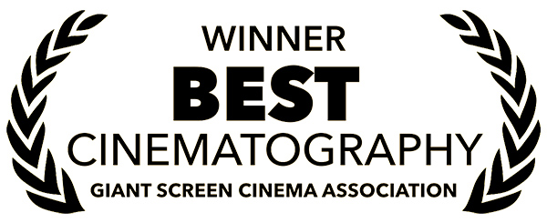 Logo - Winner Best Cinematography - Giant Screen Cinema Association