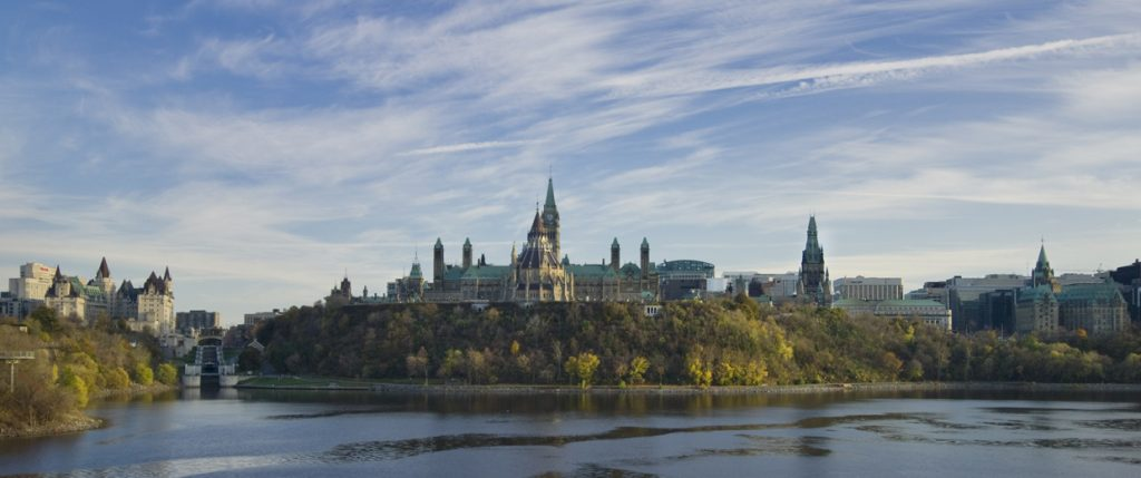 View of the Ottawa River and Parliament Hill