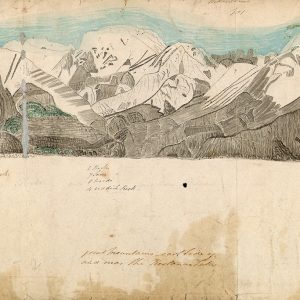 Sketch of mountains