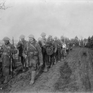 Canadian soldiers after the Battle of the Somme