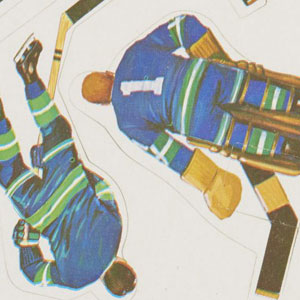 Canucks Players Stickers for Coleco Table Hockey Game