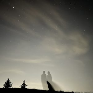 Silhouettes and sky