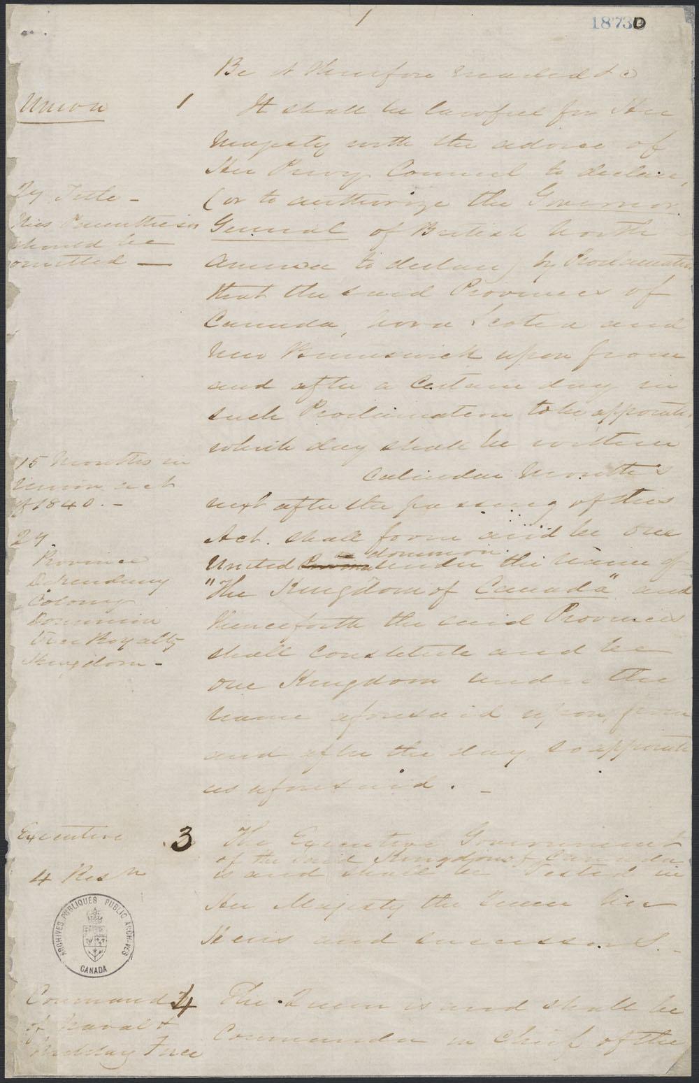 Hand-written historical document.