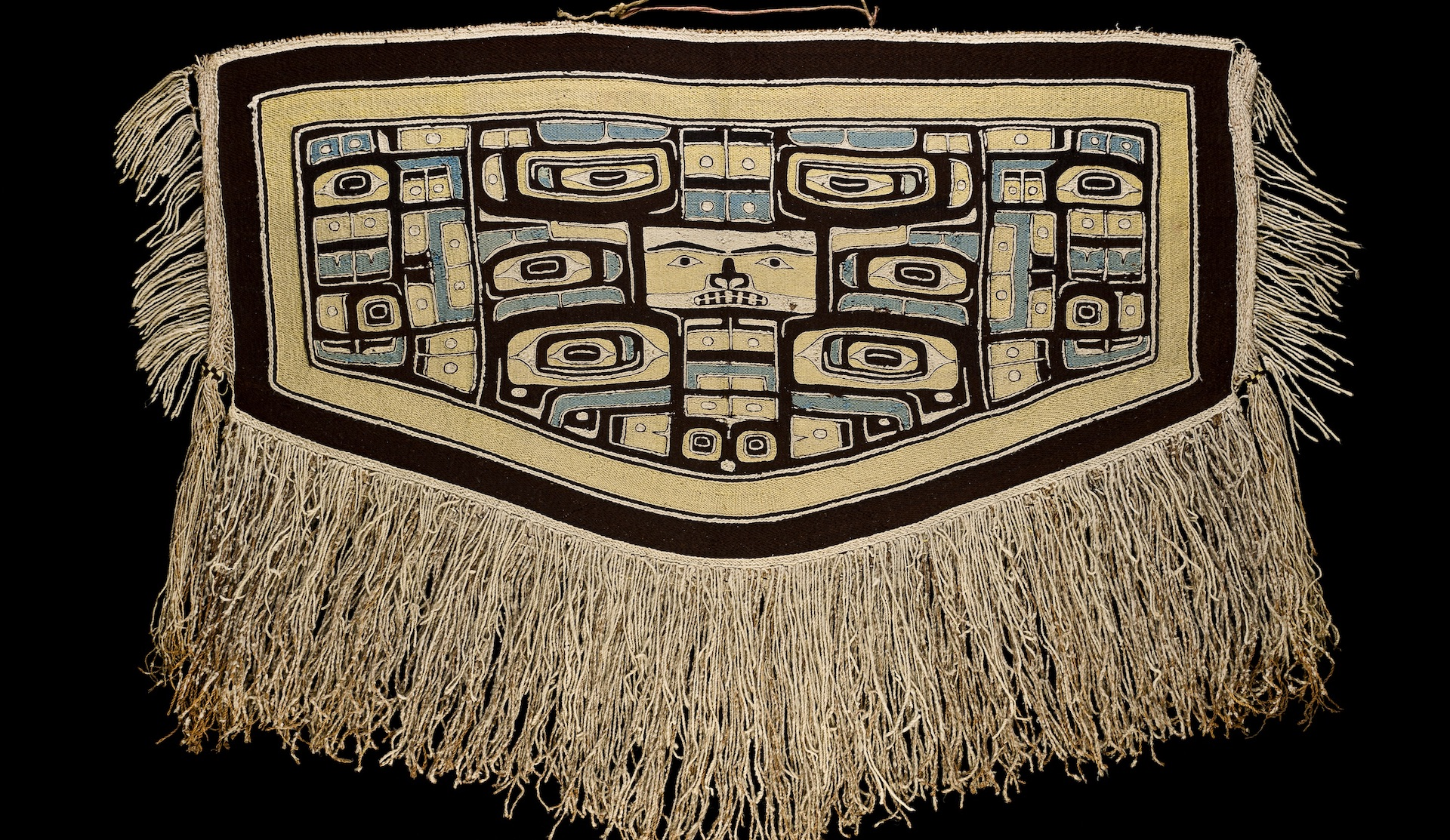 large Chilkat style ceremonial robe featuring formline designs
